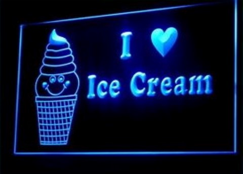 I love ice cream LED Neon Sign